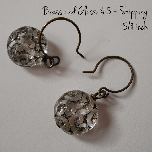 Giveaway - Brass and Glass Earrings