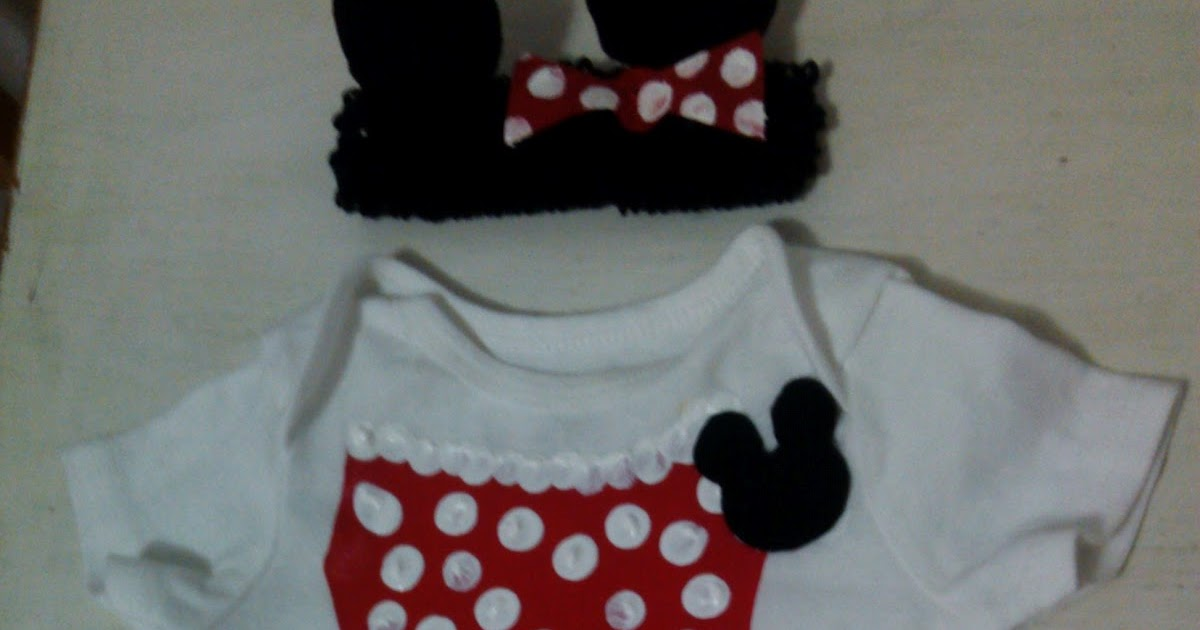 My American Confessions: Friday: DIY Minnie Mouse Baby Onesie