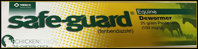 Safe-guard (fenbendazole) 10% treats threadworms, roundworms, cecal worms and gapeworms.