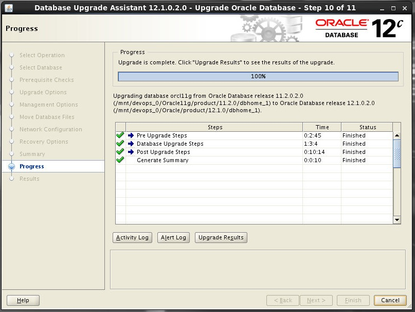 upgrade oracle 11g to 12c