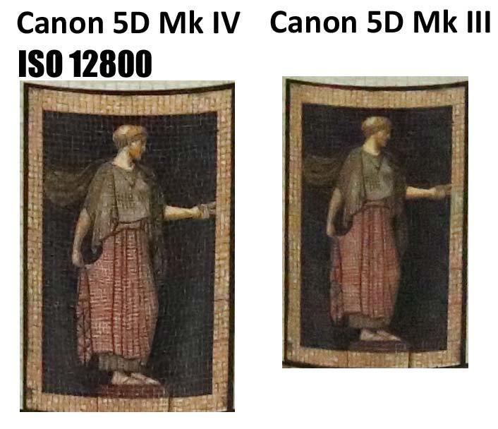 Сравнение Canon 5D Mark IV и 5D Mark III при чувствительности ISO 12800