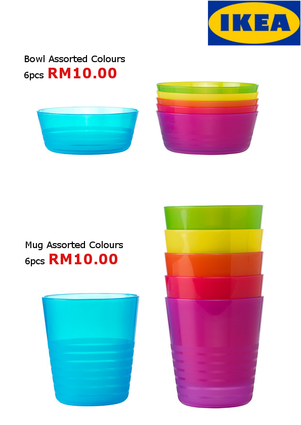 P.S. Ikea Children's Tableware: Single Set Pinggan Mangkuk ...