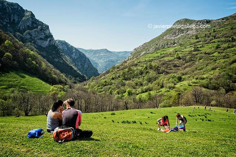 Praderas en lo alto del desfiladero de Las Xanas junto a la localidad de Pedroveya. Asturias. España. © Javier Prieto Gallego