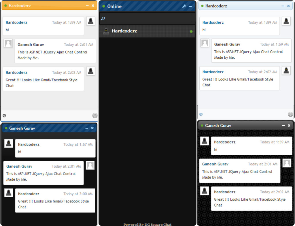 Asp net chat control