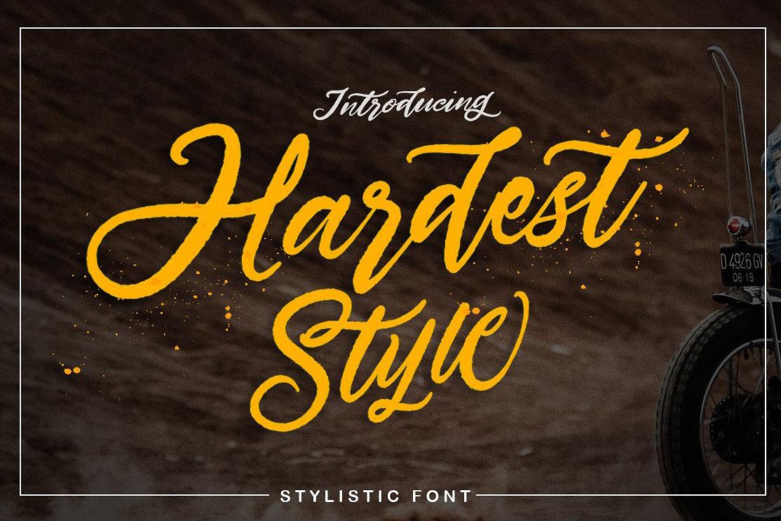 hardest style handmade script font free download free script fonts