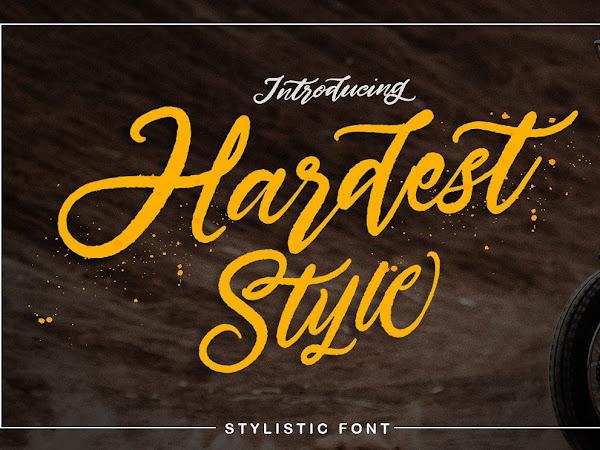Hardest Style Handmade Script Font Free Download