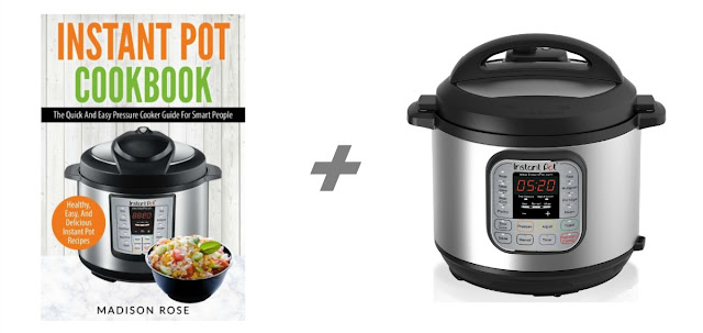 Instant Pot Cookbook by Madison Rose + Instant Pot 6-in-1 Programmable Pressure Cooker