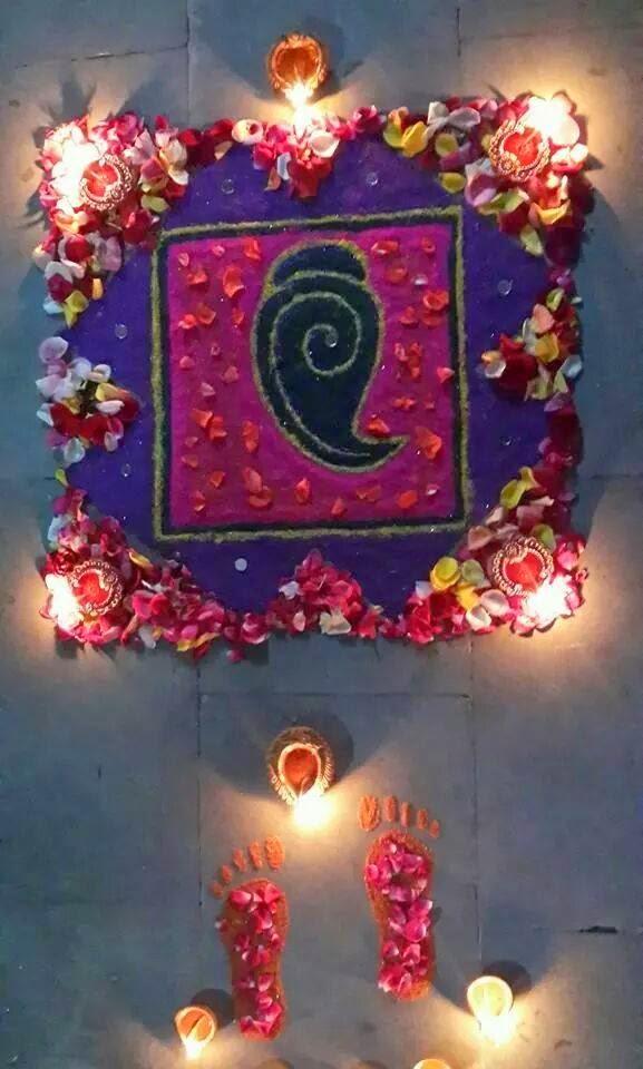 Muggu for Diwali 4