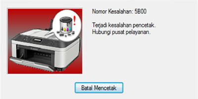 Cara Mengatasi Error 5B00 Cannon IP2770