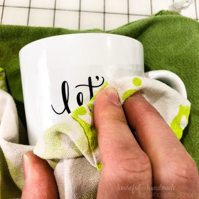 how to make coffee mug decals, mug decals, mug decal transfer, stickers for ceramic mugs, vinyl heat transfer