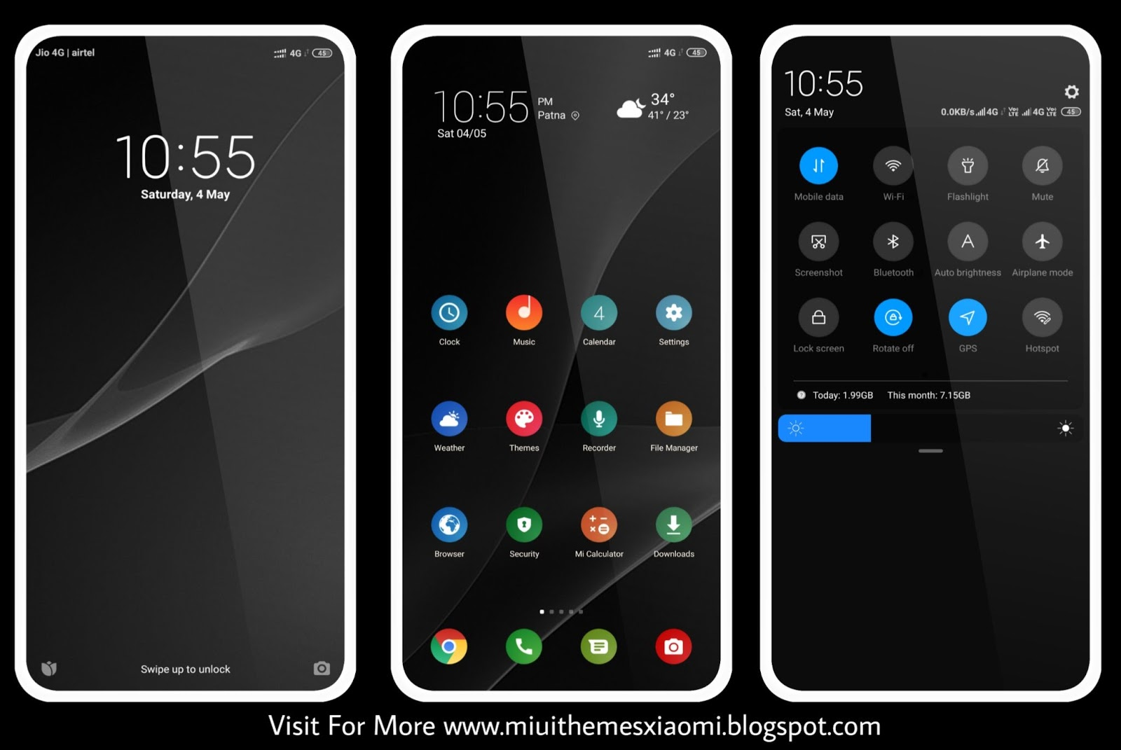 Extra Dark MIUI Theme Download For Xiaomi Mobile || MIUI