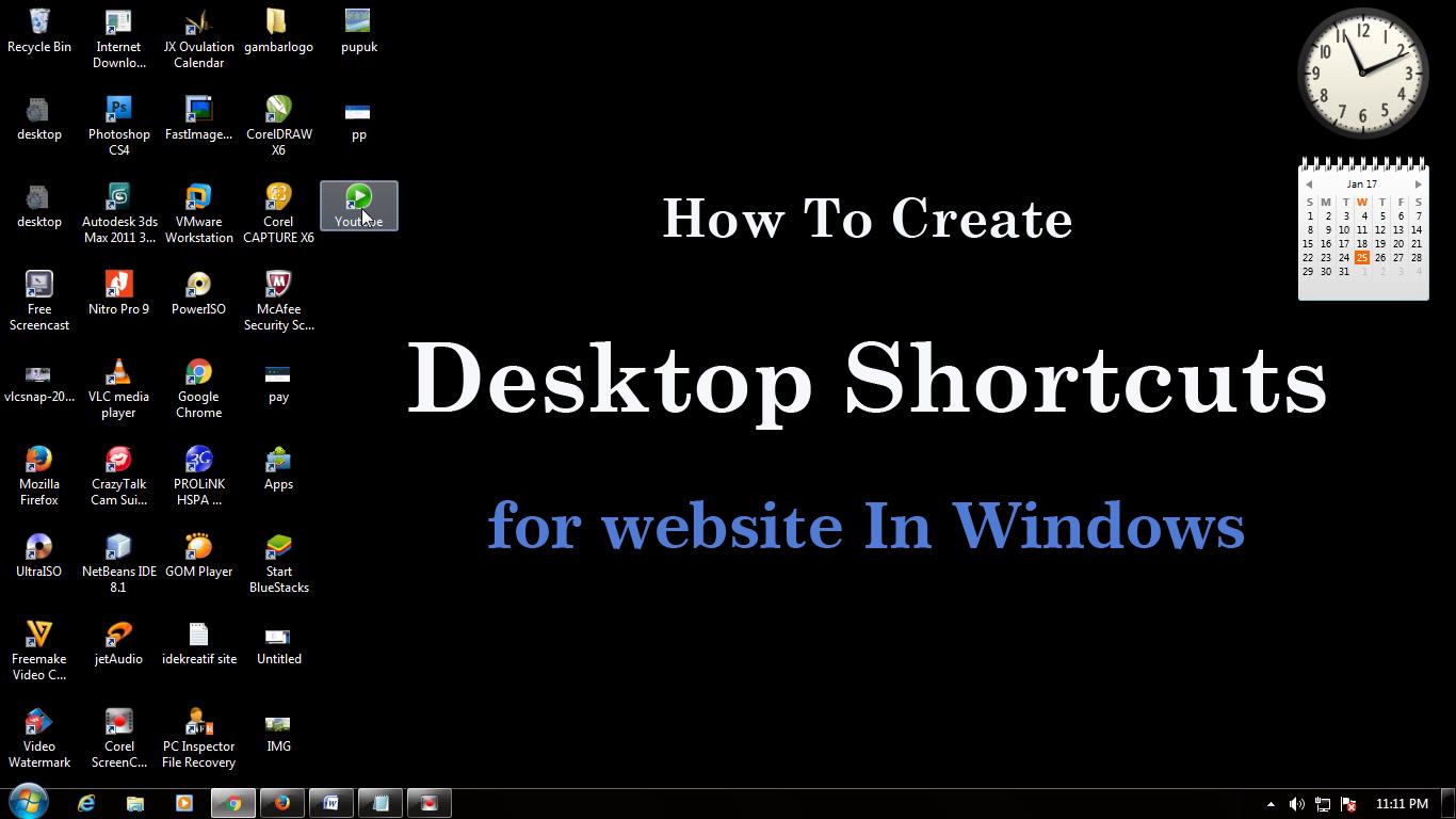 Desktop Icon - How To Create Desktop Shortcuts for Website In Windows 7