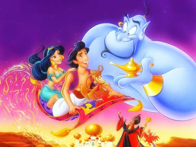 """""""A Whole New World"""" fala sobre o novo mundo que Aladdin e Jasmine estão indo descobrir."""