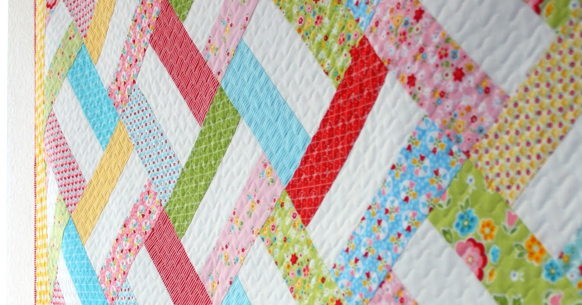 Quilt Story: Easy Strip Quilt Pattern from WoodberryWay...