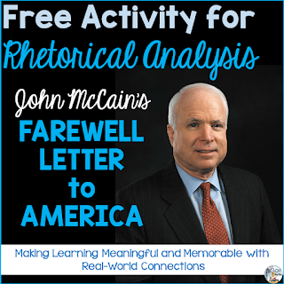 John McCain, Rhetorical Analysis