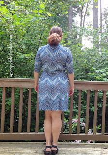 Appleton chevron dress, back view