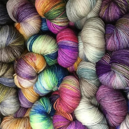 image of colorful yarn