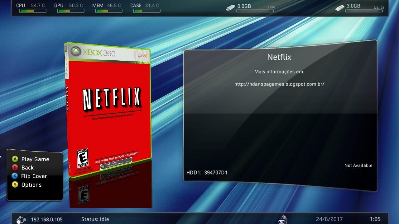 HD PARA XBOX 360 RGH / JTAG: Rodando NETFLIX no RGH / JTAG