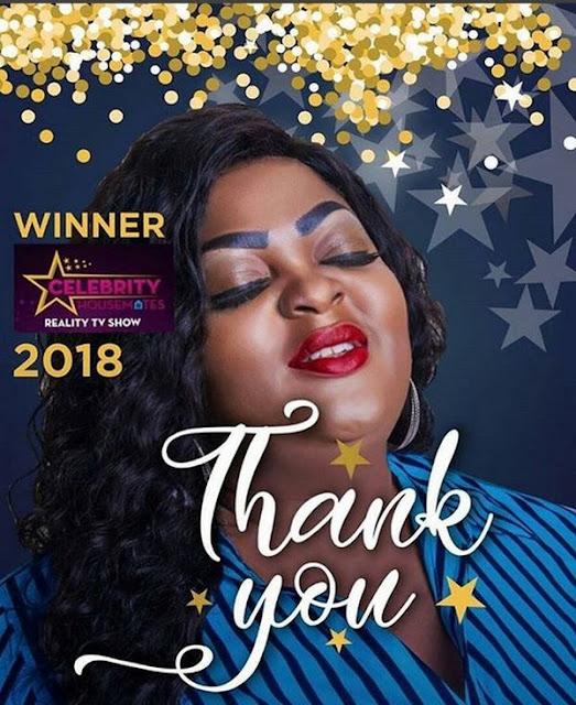 Congrats!!! Eniola Badmus Wins 2018 Celebrity Housemates TV Show