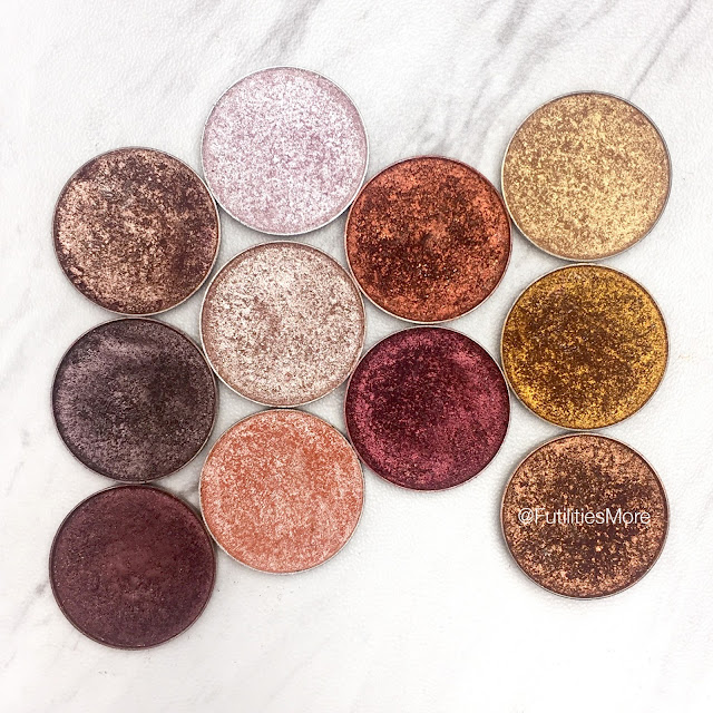 Warm toned foiled eyeshadows by Makeup Geek cosmetics - Pictures and Swatches, futilitiesmore, futilitiesandmore, futilities and more