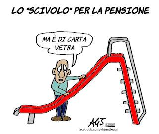 Governo, INPS, pensione, pensioni, ape, vignetta, satira