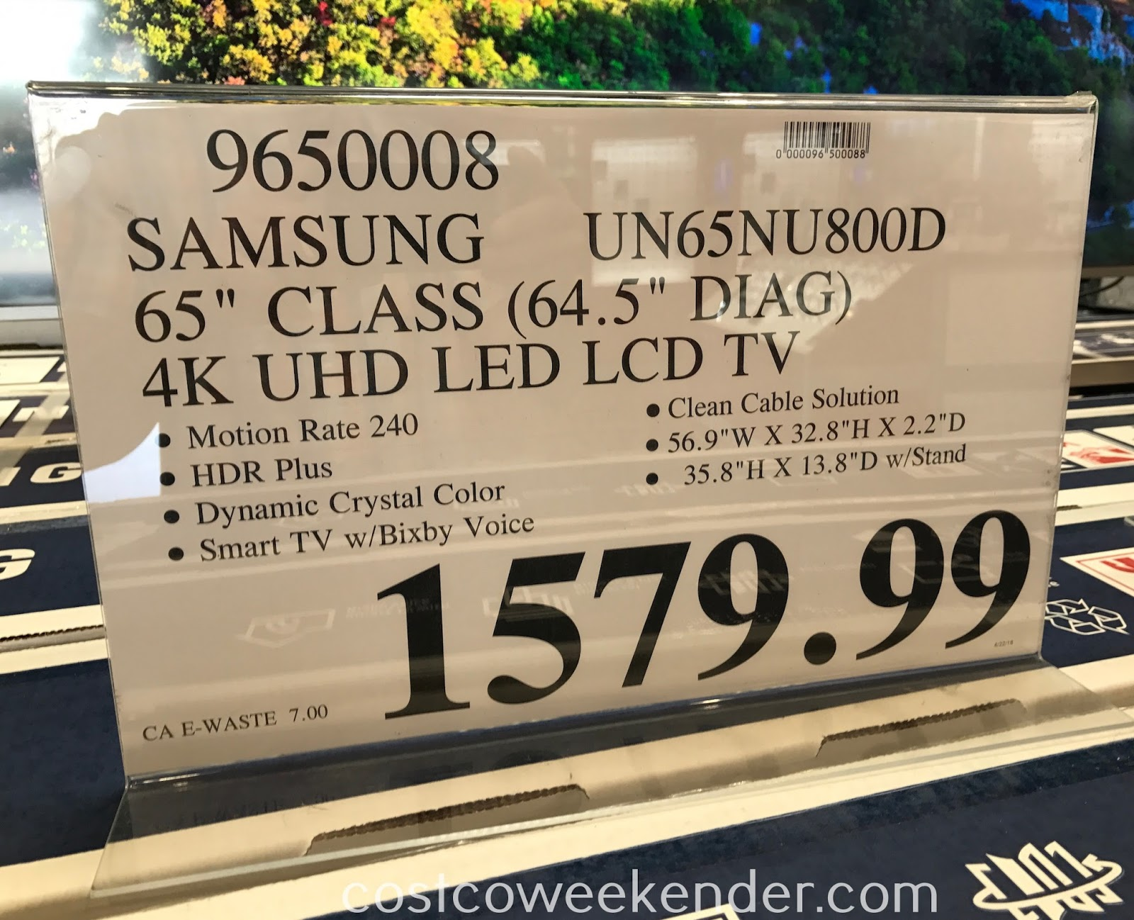 Deal for the Samsung UN65NU800D 65in tv at Costco