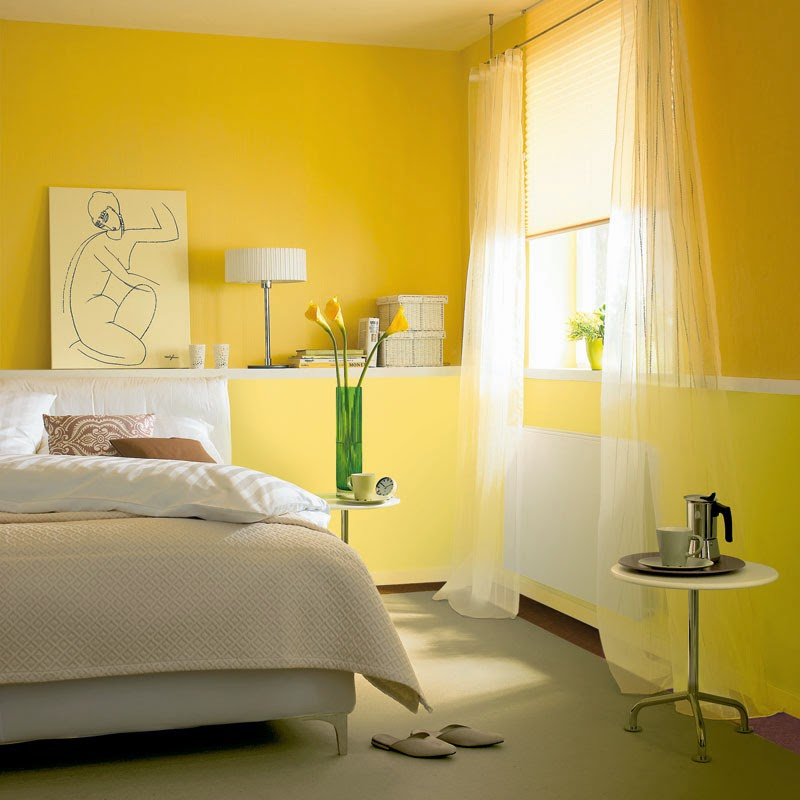 Dormitorios color amarillo ideas para decorar dormitorios for Cortinas amarillas