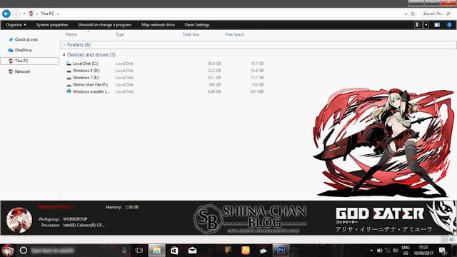 Windows 10 Ver. 1703 Theme God Eater by Enji Riz