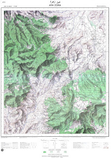 Ain-Zora Morocco 50000 (50k) Topographic map free download