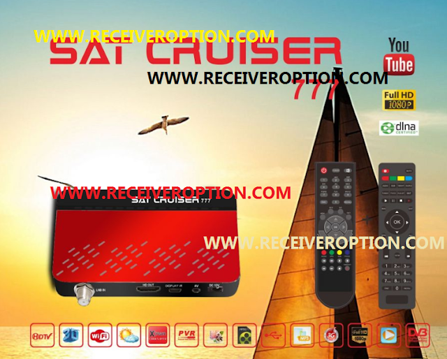 SAT CRUISER 777 HD RECEIVER POWERVU KEY SOFTWARE NEW UPDATE