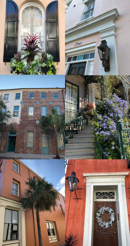 Charleston, SC architecture, window boxes, and doors