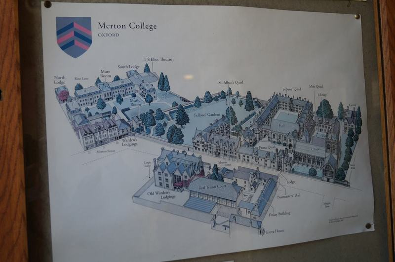 Merton College, planos de colleges, oxford