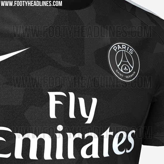 club le maillot europe 2017 2018 du psg fuite aussi culturepsg. Black Bedroom Furniture Sets. Home Design Ideas