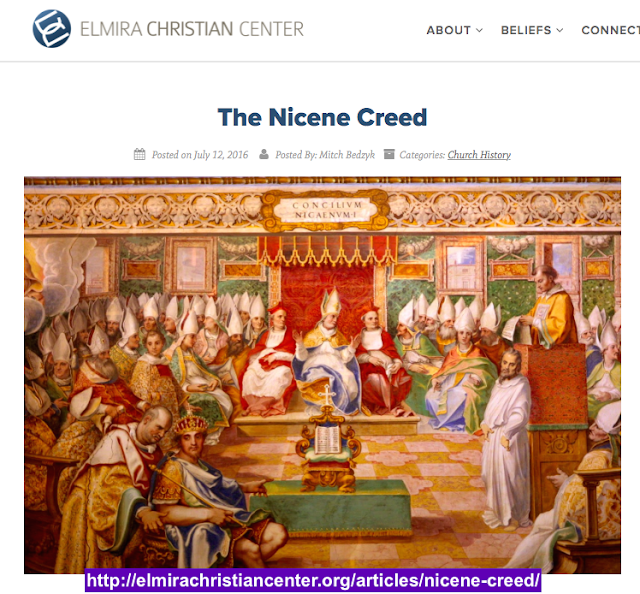 http://elmirachristiancenter.org/articles/nicene-creed/ WHY IS THE TRINITY A CONSPIRACY CONTAINING DESTRUCTIVE HERESIES?