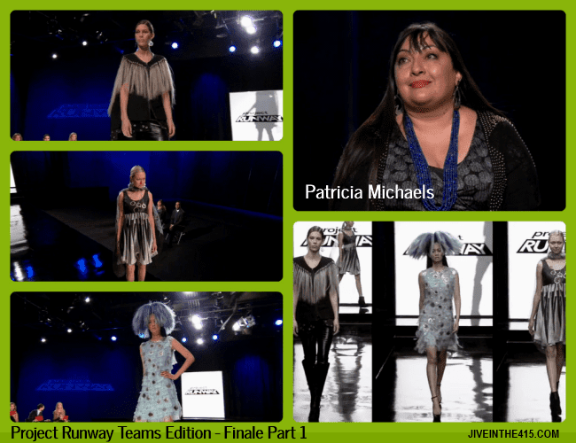 TV Talk - Project Runway Teams Edition Finale Part 1 - fashion designer Patricia Michaels and her 3 looks