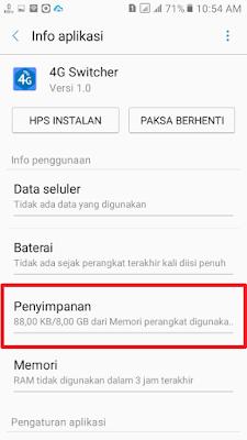 hapus data cache samsung