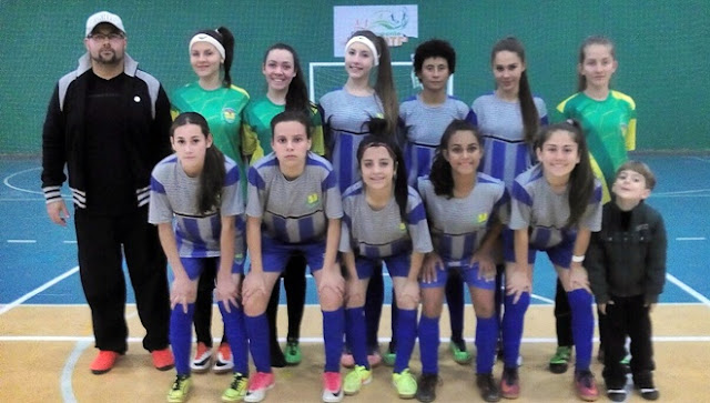 Futsal Feminino de Roncador na final dos Jogos da Juventude