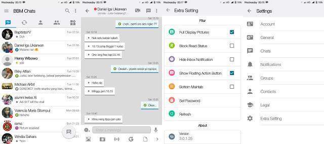 BBM MOD IOS Light v11 Based BBM 3.0.1.25