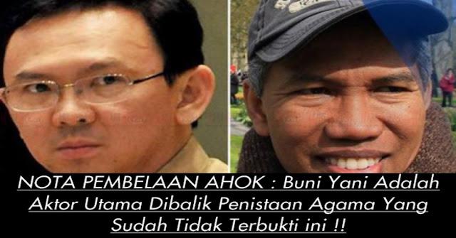 PLEDOI AHOK, Buni Yani Adalah Aktor Utama Dibalik Penistaan Agama Ini !!