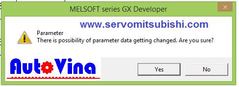 Xác nhận việc chuyển đổi parameter data của PLC