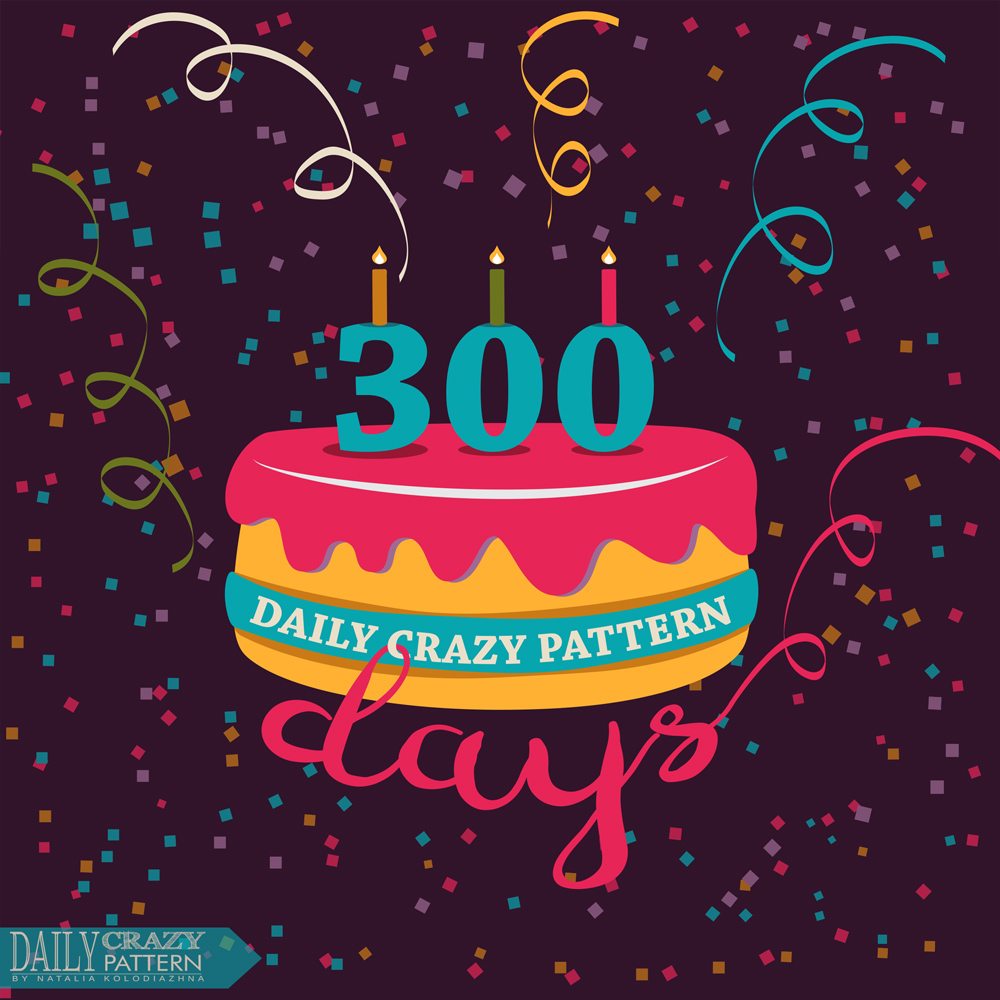 "300 days of ""Daily Crazy Pattern"" project by Natalia Kolodiazhna"