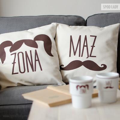 zestaw poduszek małżeństwo