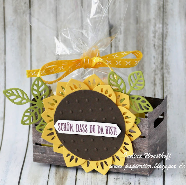 Gästegoodie | Orientpalast | papiertier Indina | Stampin' Up! | Verpackung | Holzkiste
