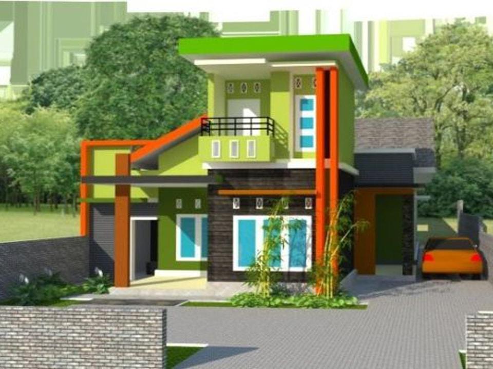 30 contoh kombinasi cat rumah minimalis warna hijau yang