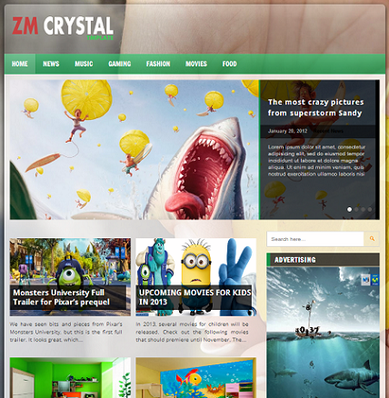 ZM Crystal Blogger Template