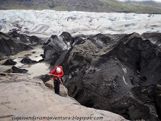 Punto de entrada al glaciar Vatnajökull