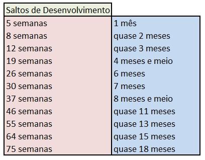 SALTOS DE DESENVOLVIMENTO