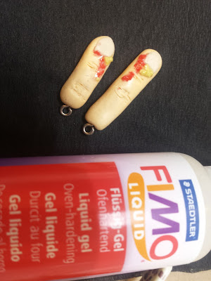 dita mozzate halloween orecchini idee fimo liquid