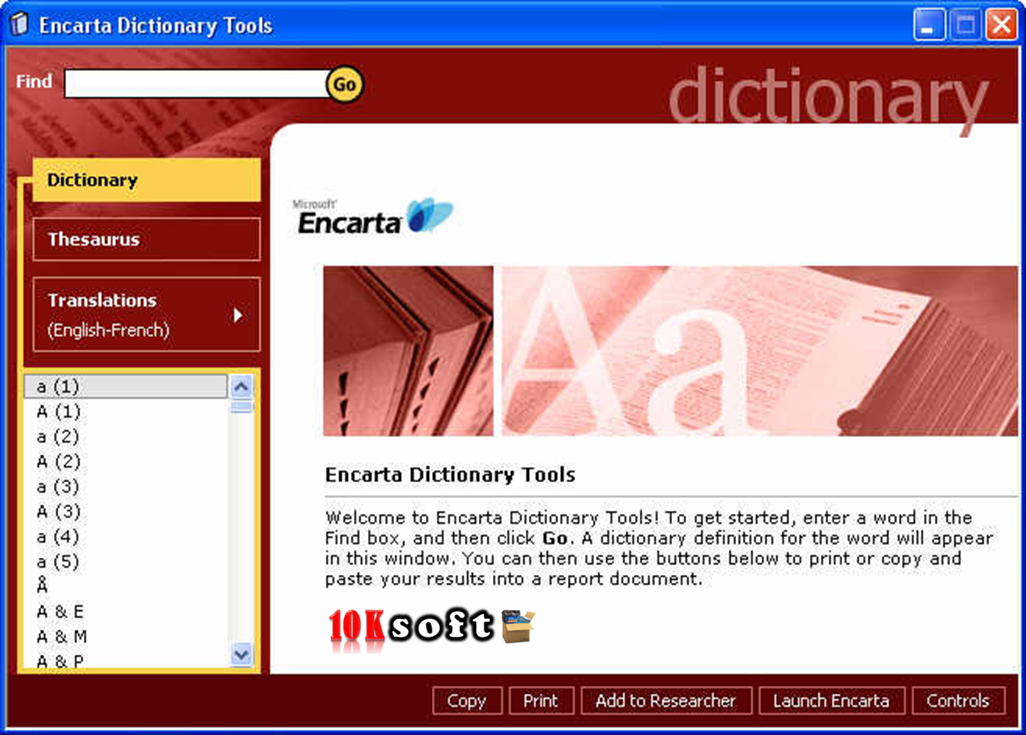 Microsoft Encarta Dictionary Free Download