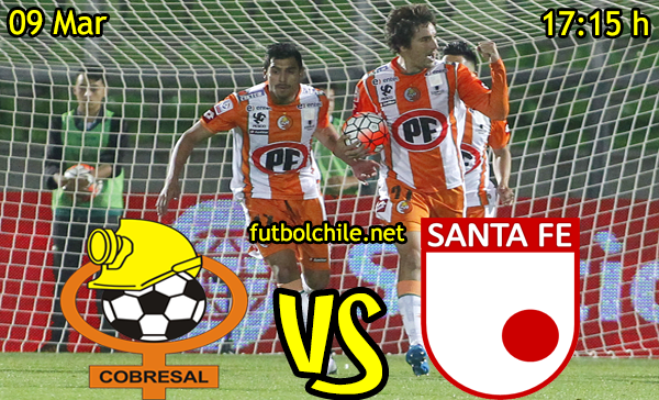 VER STREAM YOUTUBE EN VIVO, ONLINE: Cobresal vs Santa Fe